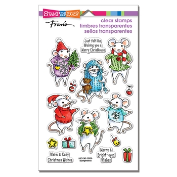 Stampendous Clear Stamps FELT MICE ssc1362*