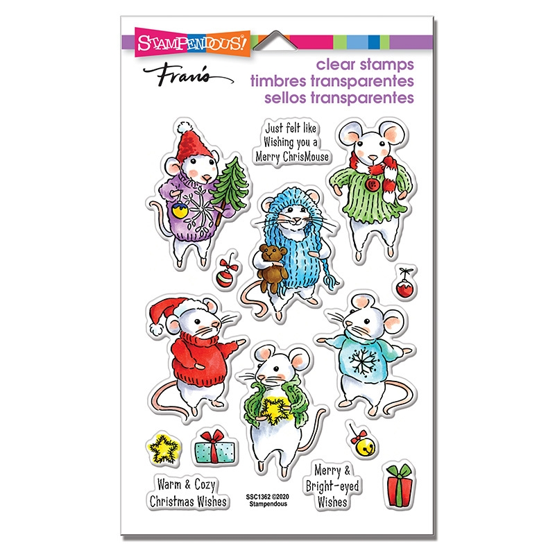 Stampendous Clear Stamps FELT MICE ssc1362* zoom image