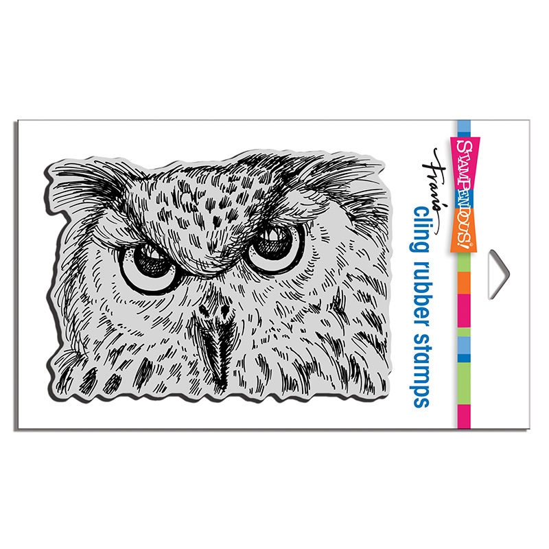 Stampendous Cling Stamp OWL EYES crr322 zoom image