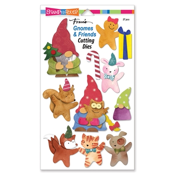 Stampendous GNOMES AND FRIENDS Die Set dcp1018*