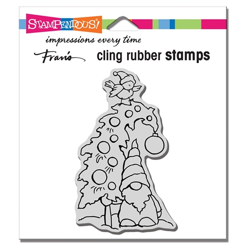 Stampendous Cling Stamp GNOME TREE crm346 Preview Image