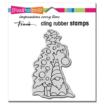Stampendous Cling Stamp GNOME TREE crm346