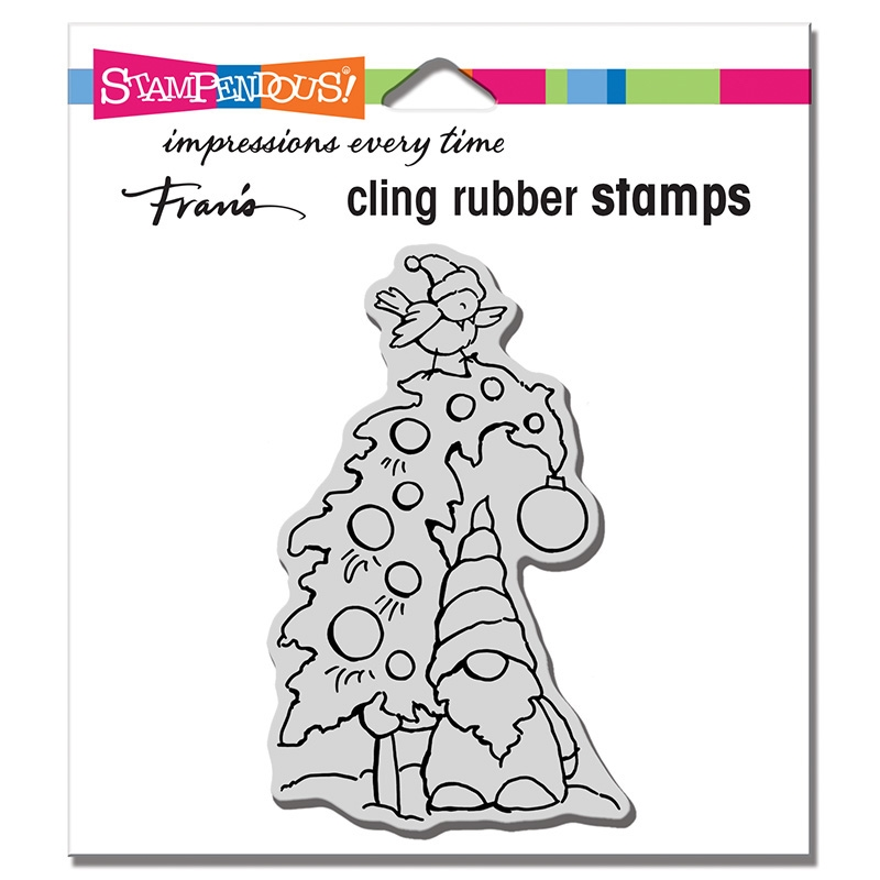 Stampendous Cling Stamp GNOME TREE crm346 zoom image