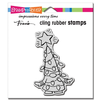 Stampendous Cling Stamp GNOME LIGHTS crm348