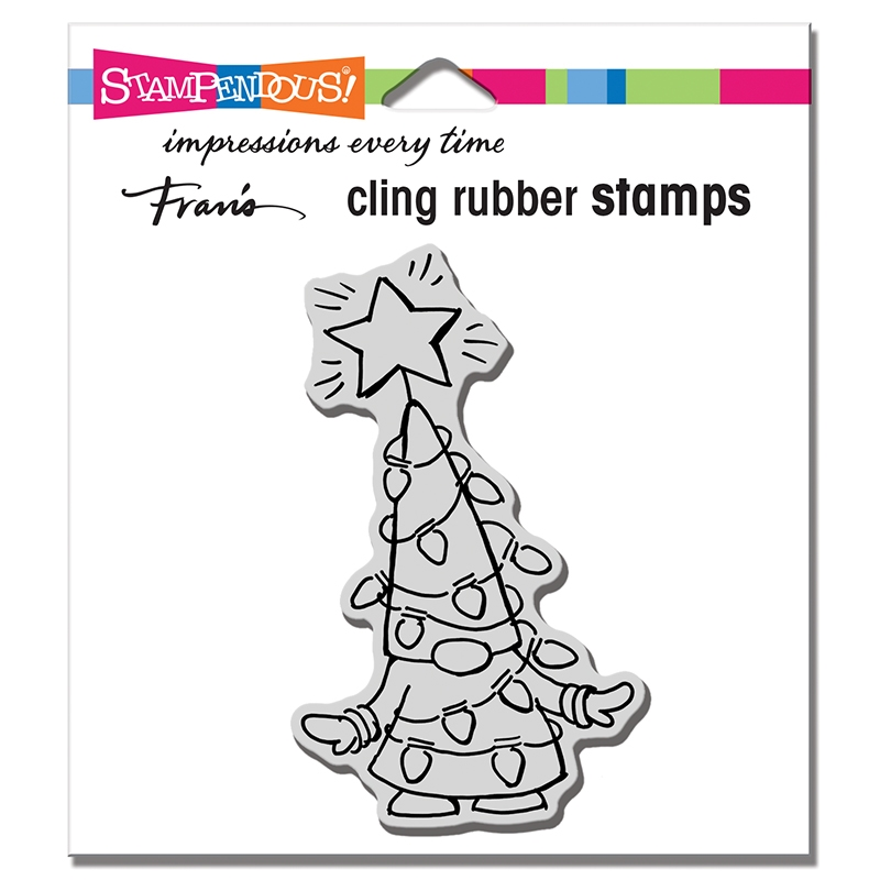 Stampendous Cling Stamp GNOME LIGHTS crm348 zoom image