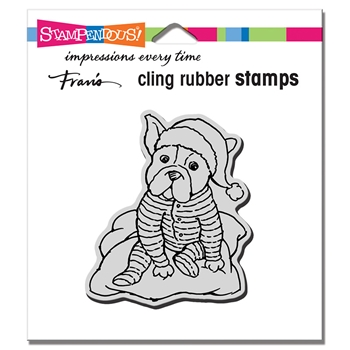 Stampendous Cling Stamp PAJAMA PUPPY crq254