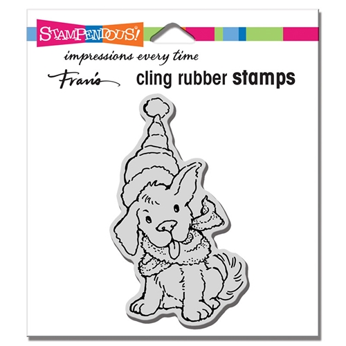 Stampendous Cling Stamp SCARF PUPPY crm345 Preview Image