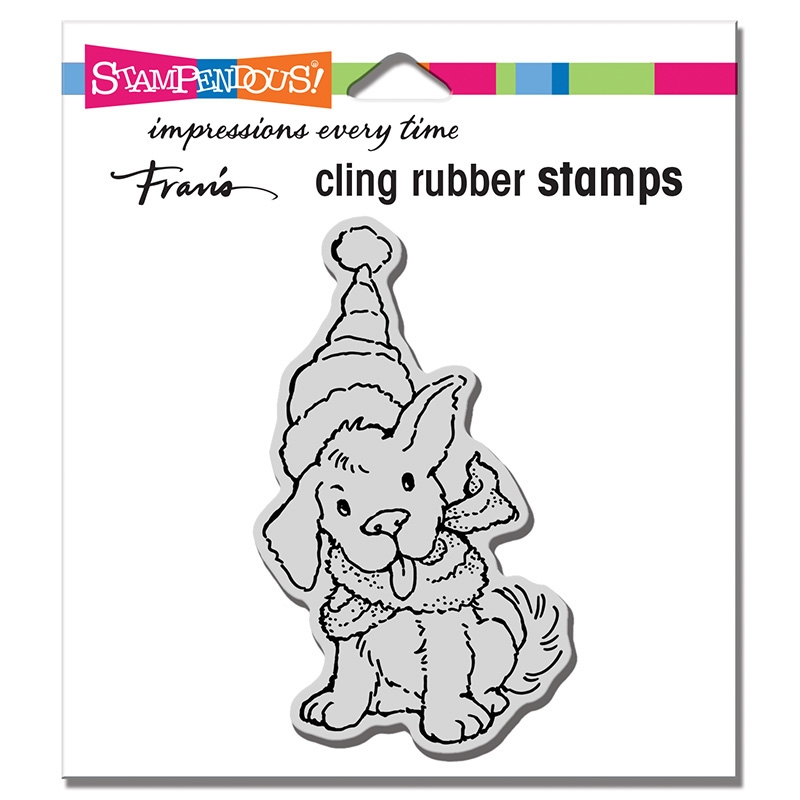 Stampendous Cling Stamp SCARF PUPPY crm345 zoom image