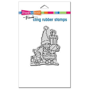 Stampendous Cling Stamp GNOME SHOPPERS crp363