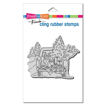 Stampendous Cling Stamp TRUCK RIDE crw217