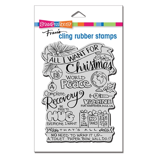 Stampendous Cling Stamp ALL FOR CHRISTMAS crr330 Preview Image