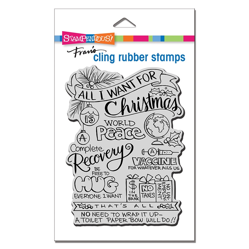 Stampendous Cling Stamp ALL FOR CHRISTMAS crr330 zoom image