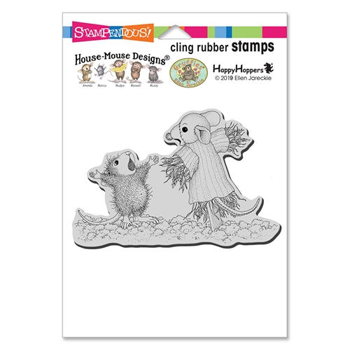 Stampendous, House Mouse Scarecrow Copier Cling Stamp