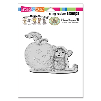 Stampendous Cling Stamp APPLE SMILE hmcp123 House Mouse