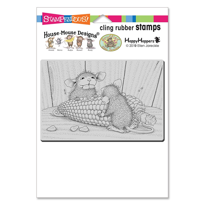 Stampendous, House Mouse Corn Toothed Cling Stamp