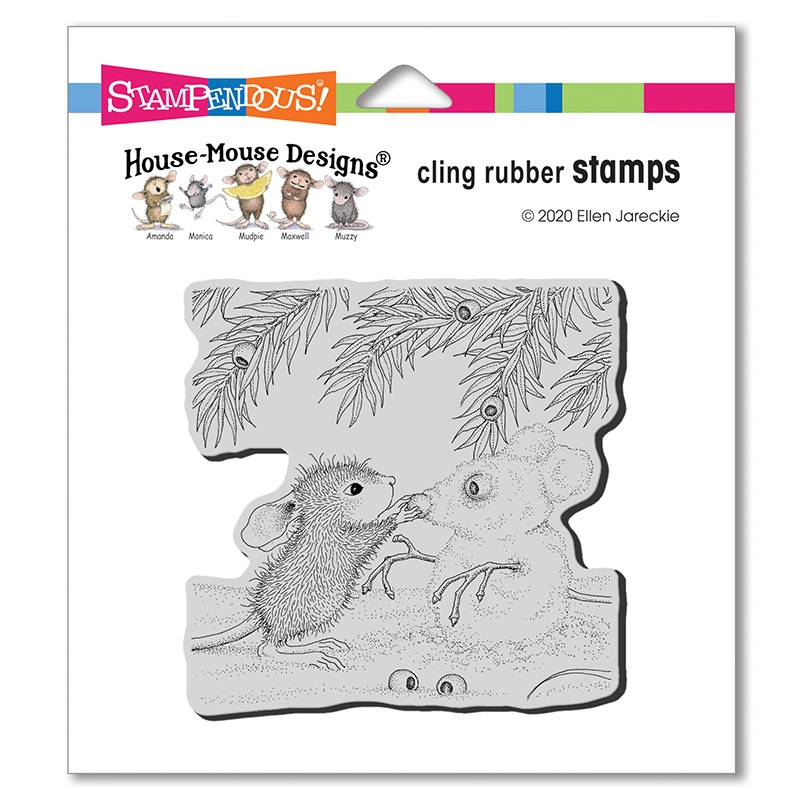 Stampendous House Mouse Snowmouse