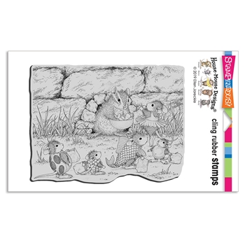 Stampendous Cling Stamp CHIPMUNK TREATS hmcr140 House Mouse