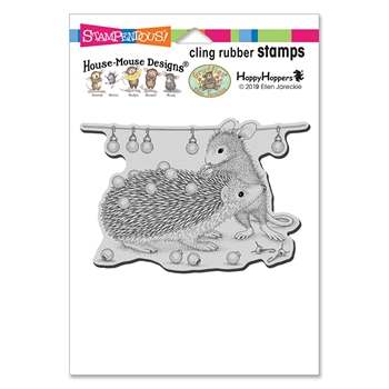 Stampendous Cling Stamp HOLIDAY HEDGEHOG hmcp128 House Mouse
