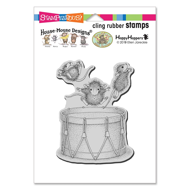 House Mouse Little Drummer Cling Stamp
