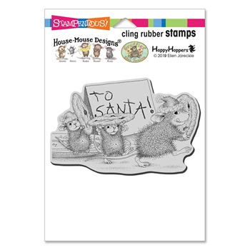 Stampendous Cling Stamp TO SANTA hmcp127 House Mouse