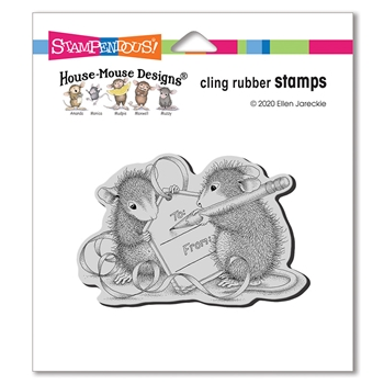 Stampendous Cling Stamp MOUSE TAG hmcm25 House Mouse