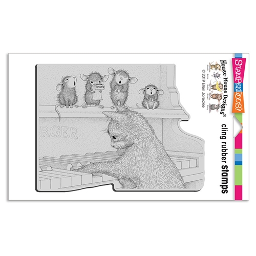 Stampendous Kitten On The Keys Cling Stamp