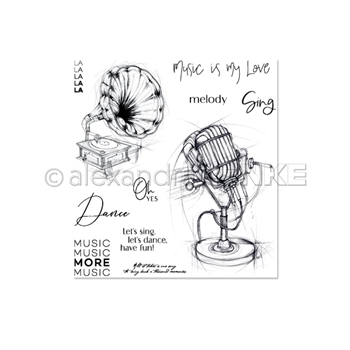 Alexandra Renke MORE MUSIC Clear Stamps csarmk0003