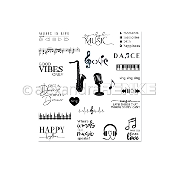 Alexandra Renke ALL MUSIC Clear Stamps csarmk0001