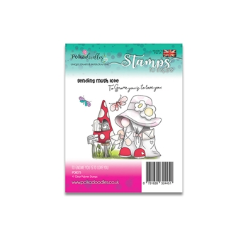 Polkadoodles TO GNOME YOU IS TO LOVE YOU Clear Stamps pd8075