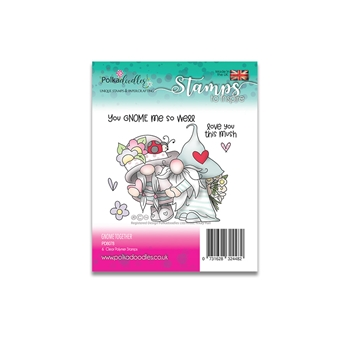 Polkadoodles GNOME TOGETHER Clear Stamps pd8078