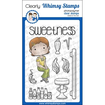 Whimsy Stamps POLKA DOT PALS LOUISA Clear Stamps BS1013