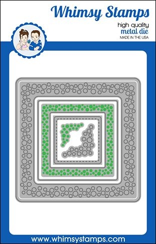 Whimsy Stamps INLAID BUBBLES Dies WSD474 zoom image