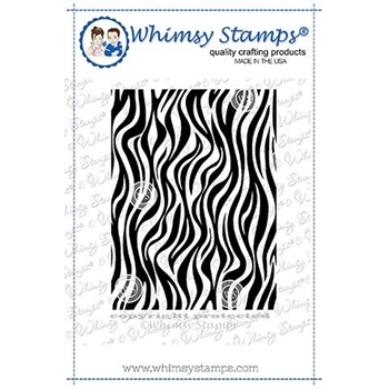 Whimsy Stamps MINI ZEBRA STRIPE BACKGROUND Rubber Cling Stamp DDB0044