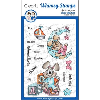 Whimsy Stamps BUNNY BABIES Clear Stamps DP1048