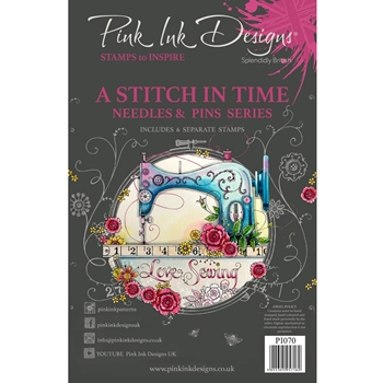 Pink Ink Designs A STITCH IN TIME A5 Clear Stamps pi070