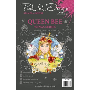 Pink Ink Designs QUEEN BEE A5 Clear Stamps pi069
