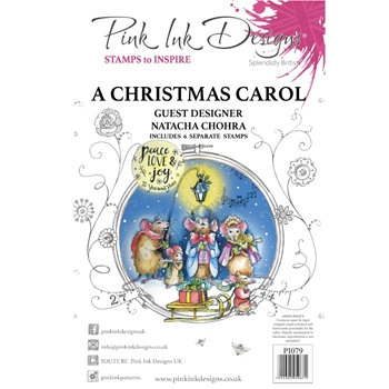 Pink Ink Designs A CHRISTMAS CAROL A5 Clear Stamps pi079