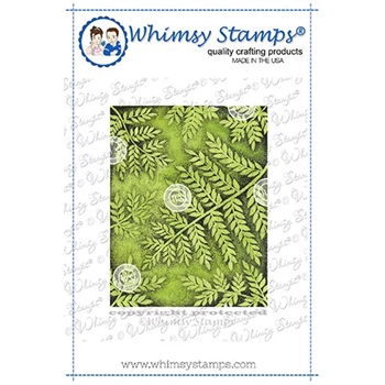 Whimsy Stamps FERN BACKGROUND Rubber Cling Stamp DA1144