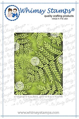 Whimsy Stamps FERN BACKGROUND Rubber Cling Stamp DA1144 zoom image