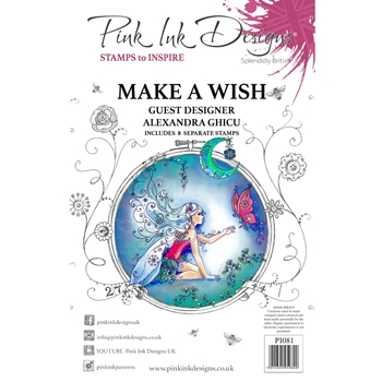 Pink Ink Designs MAKE A WISH A5 Clear Stamps pi081