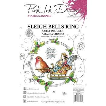 Pink Ink Designs SLEIGH BELLS RING A5 Clear Stamps pi078