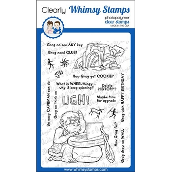 Whimsy Stamps CAVEMAN GROG Clear Stamps CWSD328