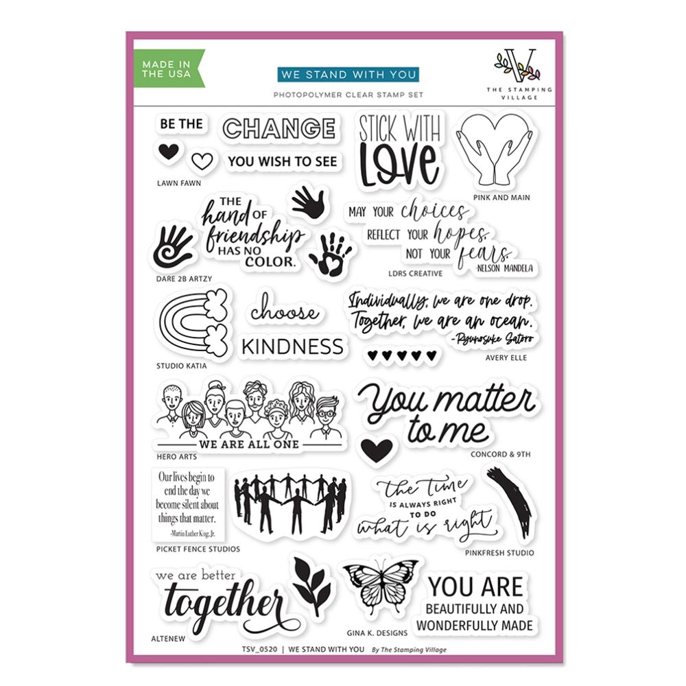 WE STAND WITH YOU Clear Stamps By The Stamping Village TSV0520 zoom image