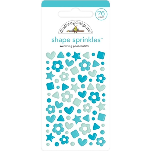 Doodlebug SWIMMING POOL CONFETTI Shape Sprinkles 6708 Preview Image