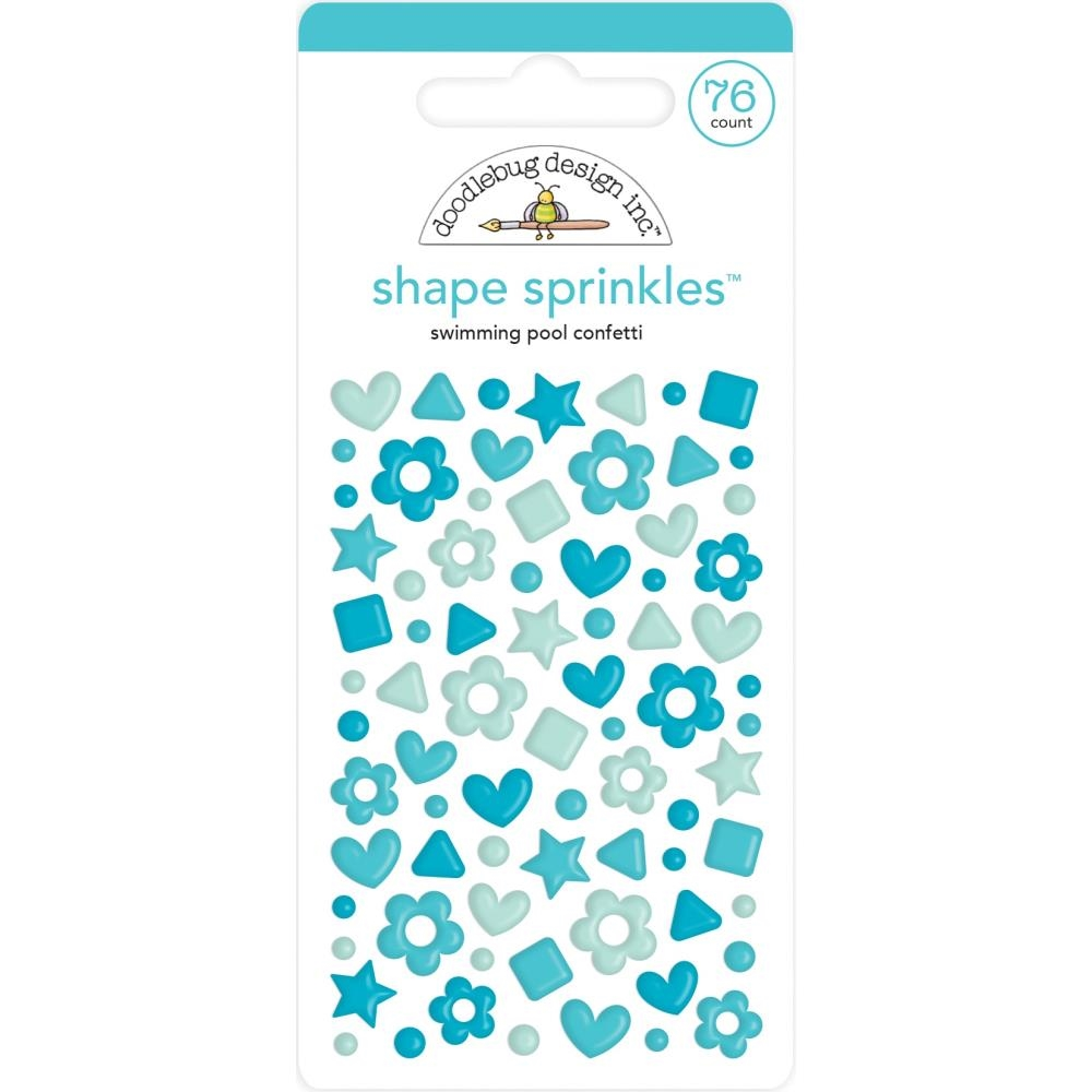 Doodlebug SWIMMING POOL CONFETTI Shape Sprinkles 6708 zoom image