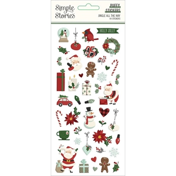 Simple Stories JINGLE ALL THE WAY Puffy Stickers 13722*