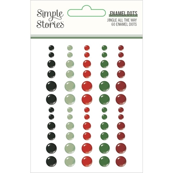 Simple Stories JINGLE ALL THE WAY Enamel Dots 13724