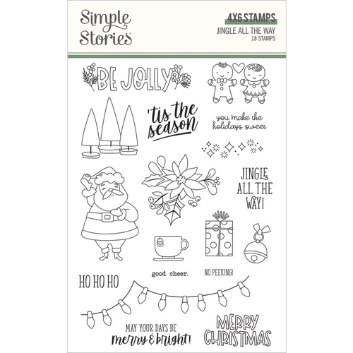 Simple Stories JINGLE ALL THE WAY Clear Stamp Set 13726 Preview Image