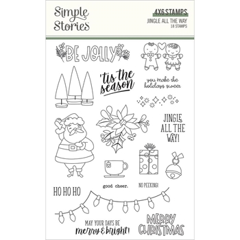 Simple Stories JINGLE ALL THE WAY Clear Stamp Set 13726