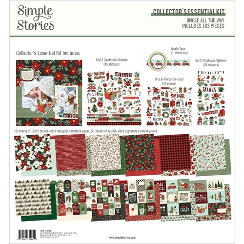 Simple Stories JINGLE ALL THE WAY 12 x 12 Collector's Essential Kit 13728 Preview Image